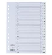 Kunststoffregister 3631157 A-Z A4 0,12mm weiße Taben 20-teilig