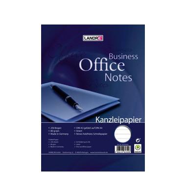 Kanzleipapier OFFICE A3 auf A4 gefalzt liniert ohne Rand weiß 250 Blatt
