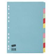 Kartonregister blanko A4 180g farbige Taben 10-teilig