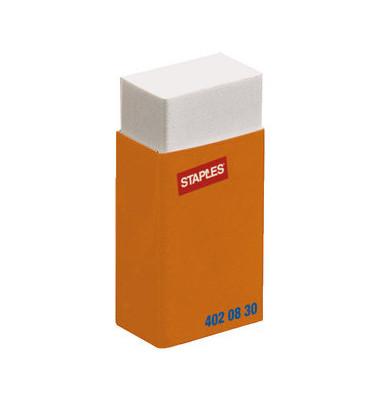 Radiergummi 40 x 18 x 10mm weiß