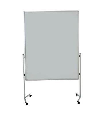 Moderationstafel Premium 7-204500, 120x150cm, Filz + Filz (beidseitig), pinnbar, mit Rollen, grau + grau