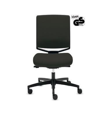Bürodrehstuhl My-self Comfort ohne Armlehnen schwarz Stoff