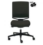 Bürodrehstuhl My-self Comfort ohne Armlehnen schwarz Stoff (Montage)