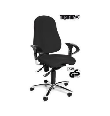 Bürodrehstuhl Sitness 10 mit Armlehnen schwarz