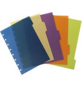 Register ARC, PP, blanko, Speziallochung, A5, 5 Blatt, 5farbig