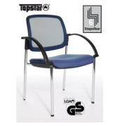 Visitor Open Chair 10 blau Besucherstuhl  OC190A T38 mit Netzrücken und Armlehnen