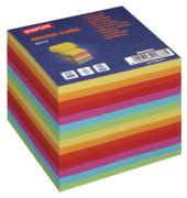 Notizwürfel 90 x 90 x 79mm farbig sortiert geleimt 800 Blatt
