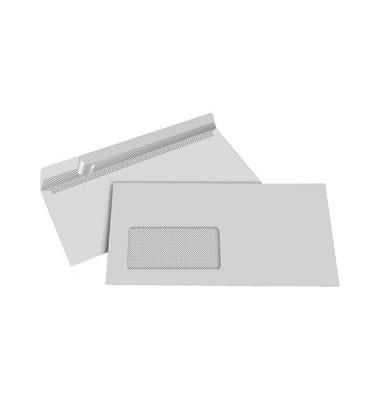 Briefumschläge Din Lang mit Fenster haftklebend 80g grau 1000 Stück Recycling