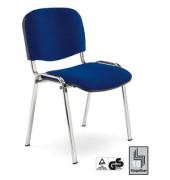 ISO GS dunkelblau Stapelstuhl gepolstert mit Stoffbezug