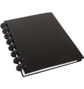 Spiralbuch ARC A5 liniert schwarz 60 Blatt PP