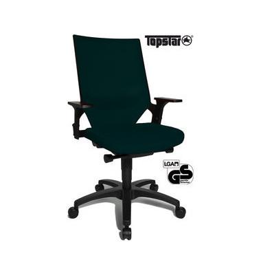 Bürodrehstuhl Autosyncro 1 mit Armlehnen schwarz