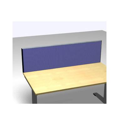 Schreibtischteiler Accoust.Formfac4 blau H:48 B:160