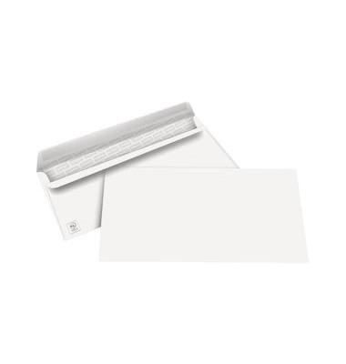 Briefumschläge Din Lang ohne Fenster selbstklebend 80g weiß 100 Stück