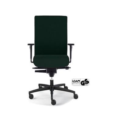 Bürodrehstuhl Sim-O mit Armlehnen schwarz