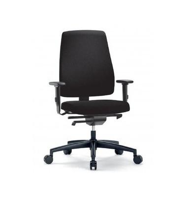 Bürodrehstuhl Goal mit Armlehnen schwarz komplett montiert