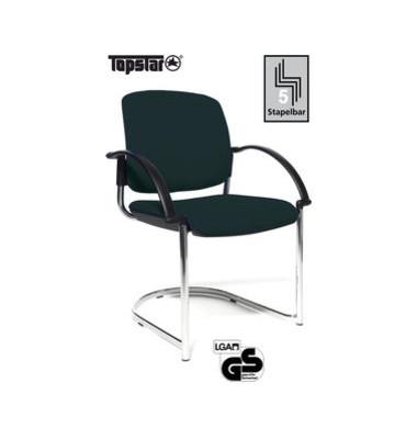 Visitor Open Chair 40 schwarz Schwingstuhl OC490A T20 gepolstert mit Armlehnen