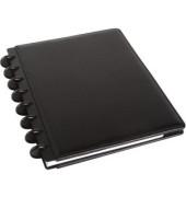 Spiralbuch ARC Leder befüllbar schwarz DIN A5 60 Bl