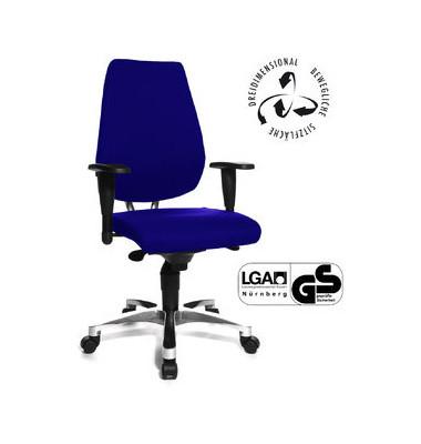 Bürodrehstuhl Sitness 30 mit Armlehnen royalblau
