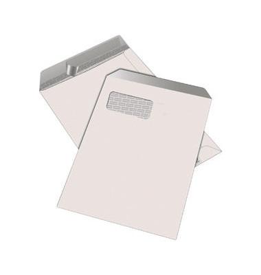 Versandtaschen C4 mit Fenster haftklebend 100g weiß 250 Stück