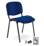 ISO GS Visitor dunkelblau Besucherstuhl gepolstert mit Stoffbezug