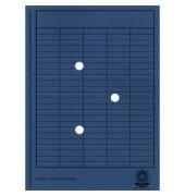 Umlaufmappe 80200 A4 250g Karton dunkelblau mit 3 Sichtlöchern