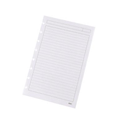 Ringbucheinlage A5 liniert für ARC Spiralbuch weiß 100g 50 Blatt