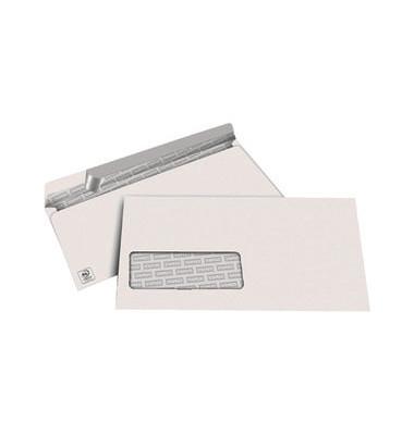 Briefumschläge Din Lang mit Fenster haftklebend 80g weiß 100 Stück