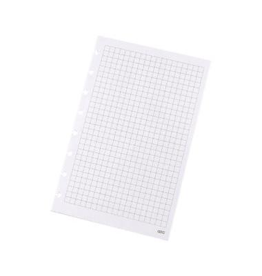 Ringbucheinlage A5 kariert für ARC Spiralbuch weiß 100g 50 Blatt