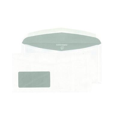 Kuvertierhülle C6/5 Fenstar nassklebend 80g weiß 1000 Stück