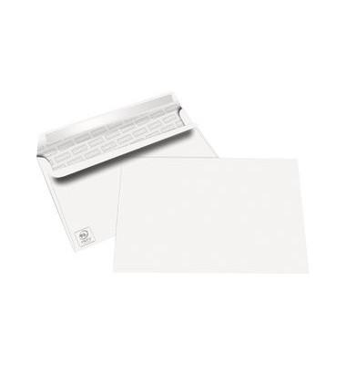Briefumschläge C6 ohne Fenster selbstklebend 80g weiß 100 Stück