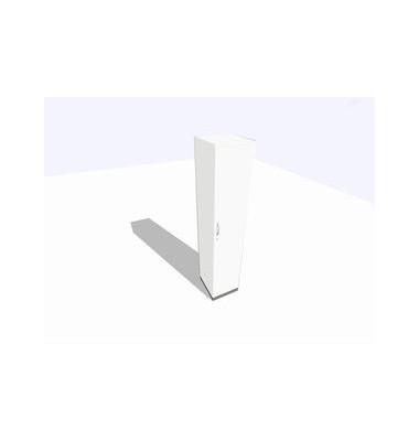 Aktenschrank ClassicLine SBBBI17-W3W300A9K0D0DD0003M, Holz/Stahl abschließbar, 5 OH, 40 x 198 x 45 cm, inkl. Montage, weiß