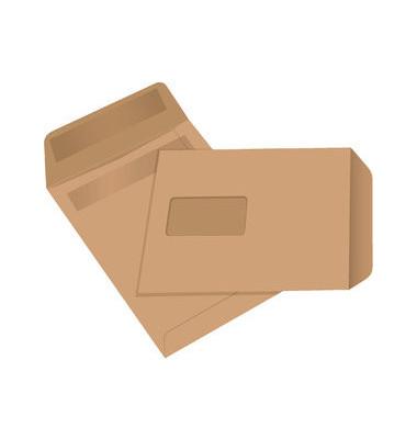 Versandtaschen C5 mit Fenster selbstklebend 80g braun 500 Stück