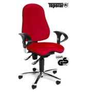 Bürodrehstuhl Sitness 10 mit Armlehnen rot