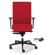 Bürodrehstuhl Sim-O mit Armlehnen rot