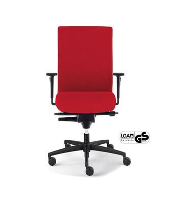 Bürodrehstuhl Sim-O mit Armlehnen rot (Montage)