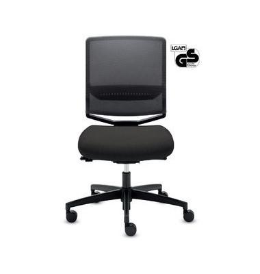 Bürodrehstuhl My-self Mesh ohne Armlehnen schwarz