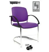Visitor Open Chair 40 lila Schwingstuhl OC490A T33 gepolstert mit Stoffbezug mit Armlehnen