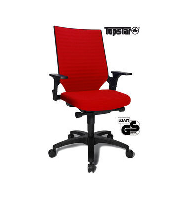 Bürodrehstuhl Autosyncro 2 mit Armlehnen rot