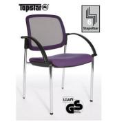 Open Chair 10 Visitor lila Besucherstuhl OC190A T33 mit Netzrücken mit Armlehnen