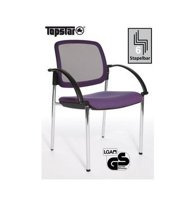 Besucherstuhl Open Chair 10 Visitor Armlehnen Netzrücken