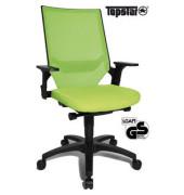 Bürodrehstuhl Autosyncro 1 mit Armlehnen grün