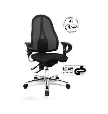 Bürodrehstuhl Sitness 15 mit Armlehnen schwarz
