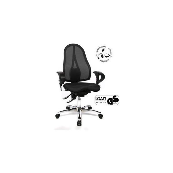 topstar b rodrehstuhl sitness 15 mit armlehnen schwarz. Black Bedroom Furniture Sets. Home Design Ideas