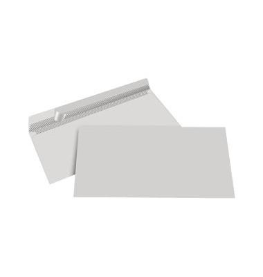 Briefumschläge Din Lang ohne Fenster haftklebend 80g grau 1000 Stück Recycling