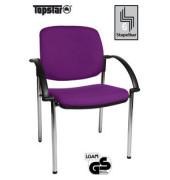 Visitor Open Chair 20 lila Besucherstuhl OC290A T33 gepolstert mit Stoffbezug mit Armlehnen