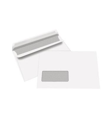 Briefumschläge C6 mit Fenster selbstklebend 80g weiß 1000 Stück