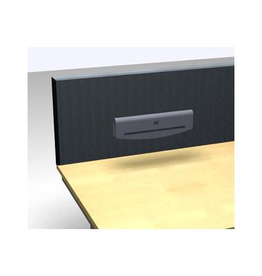 Magnetleiste zum Aufstecken weißalu RAL 9006