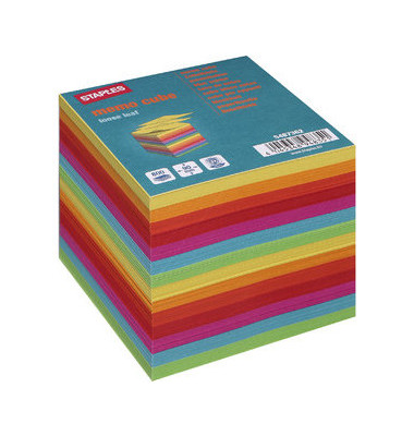 Notizzettel 90 x 90mm farbig sortiert 800 Blatt