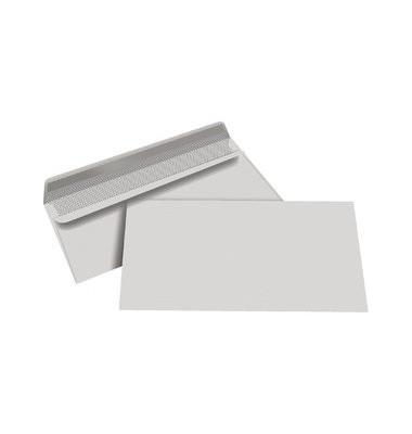 Briefumschläge Din Lang ohne Fenster selbstklebend 80g grau 1000 Stück Recycling