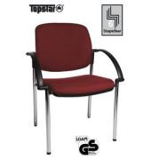 Visitor Open Chair 20 bordeaux Besucherstuhl OC290A T27 gepolstert mit Stoffbezug mit Armlehnen